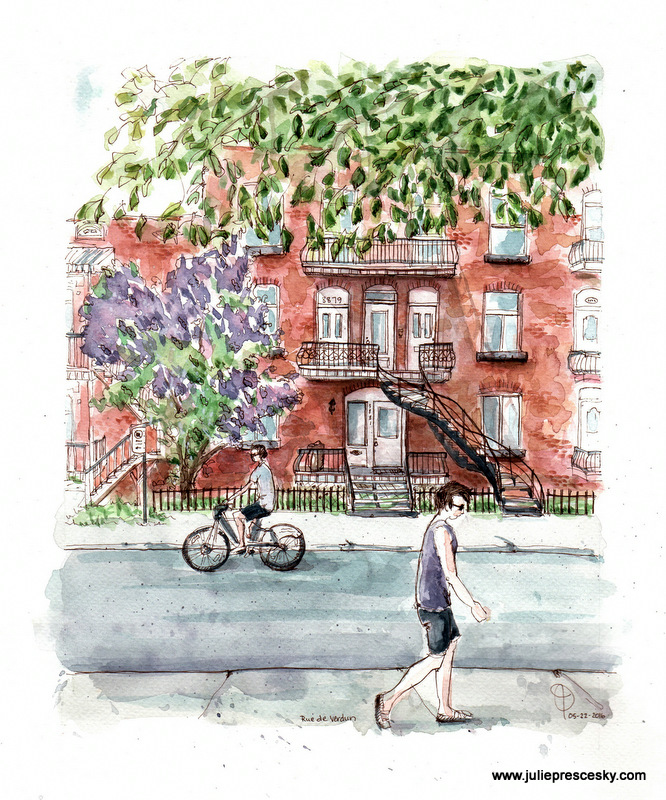 April and May in Montreal - Urban Sketching Gallery - And, Hire Me!