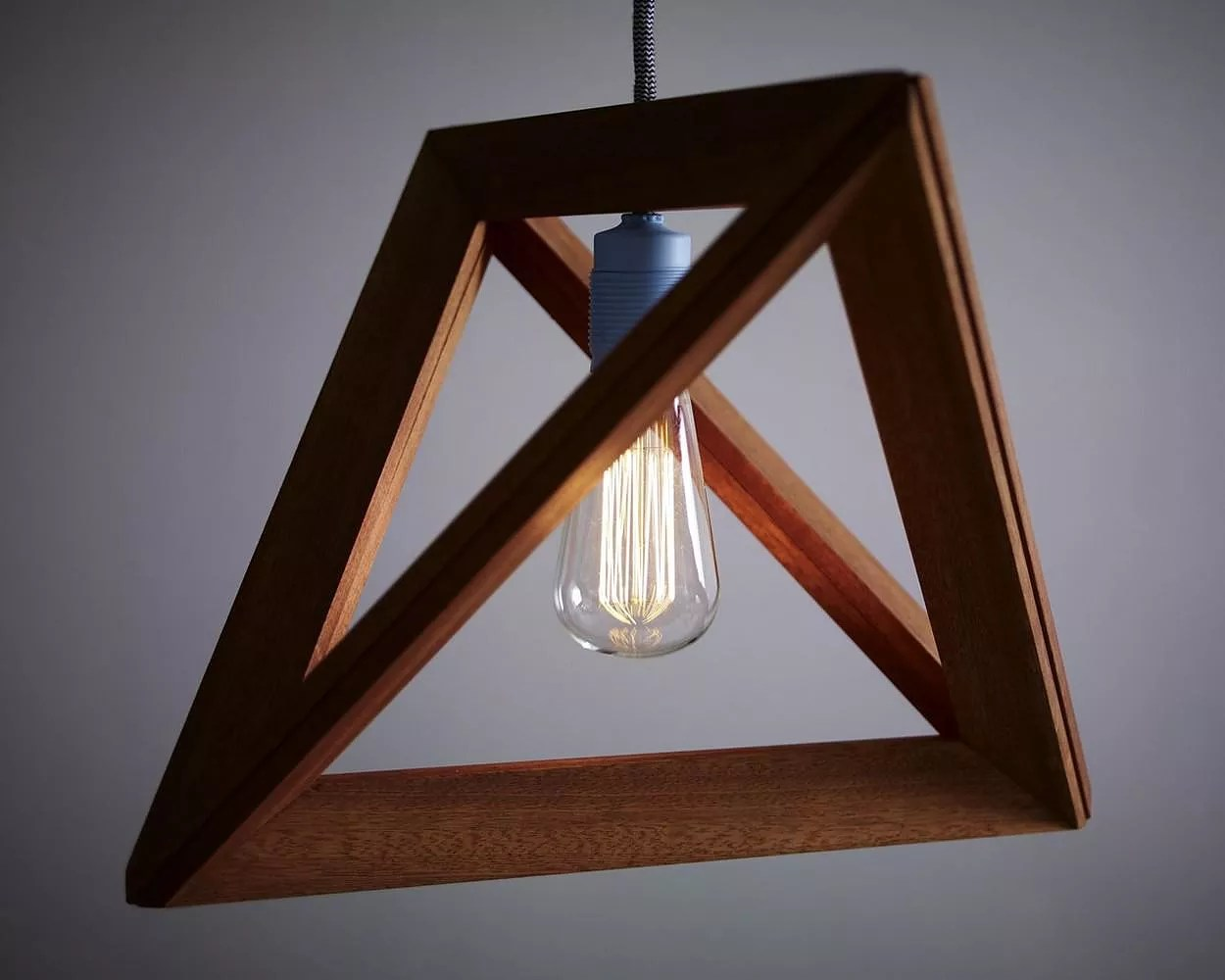 Wooden Light Post Designs Lightframe Wooden Pendant Lamp By Herr Mandel Design Is