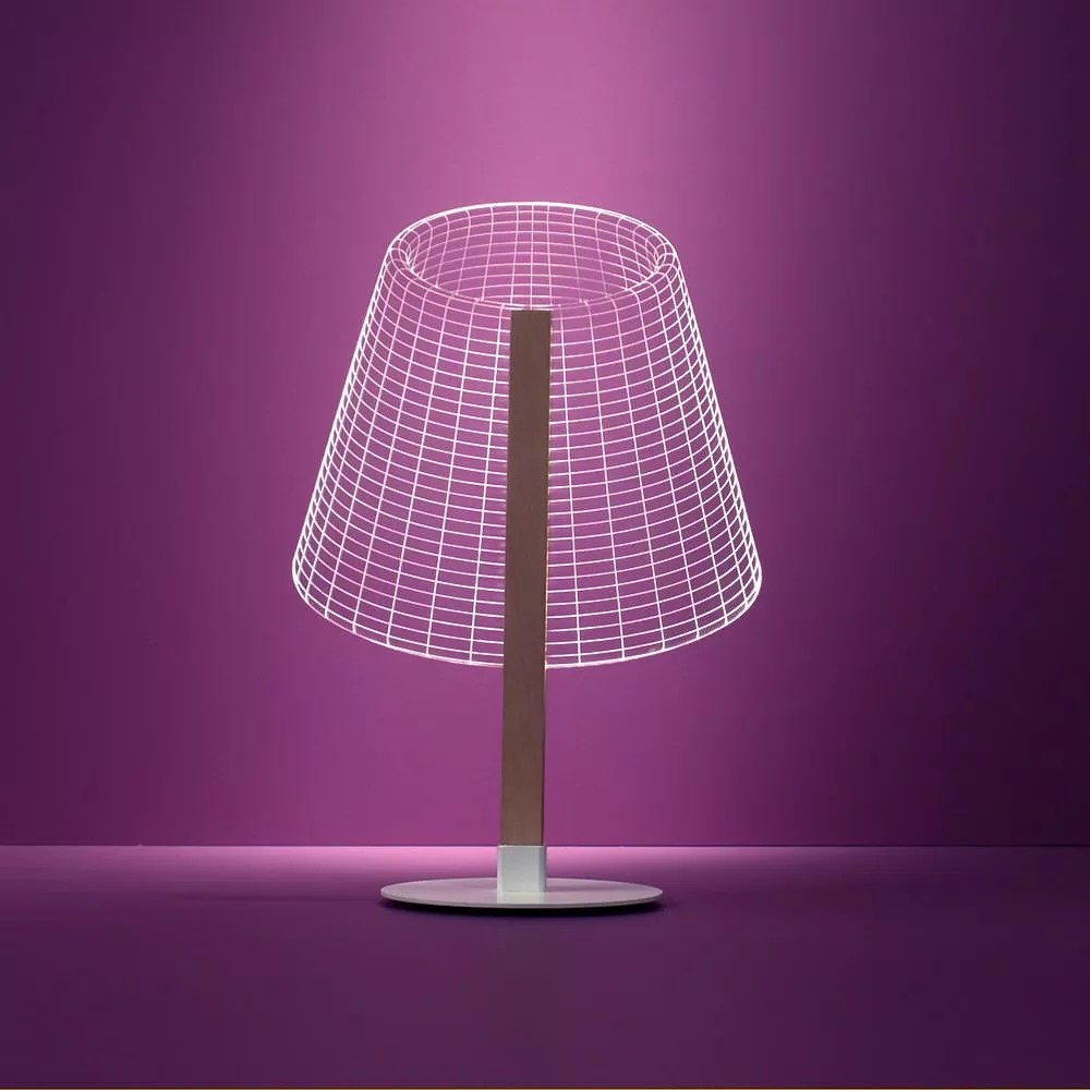 Edison Lampe Bulbing 2d Optical Illusion Lamps By Studio Cheha.