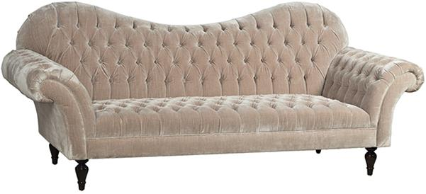 Salon Taupe The French Salon Sofa Tufted Taupe Velvet Out Of Asia