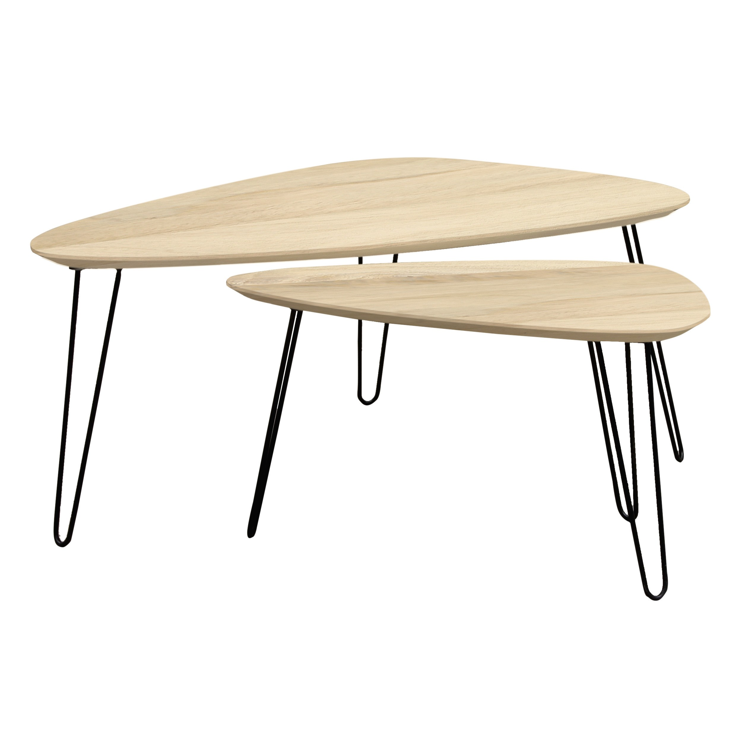 Table Salon Gigogne Table Basse Gigogne En Bois Aspen Lot De 2