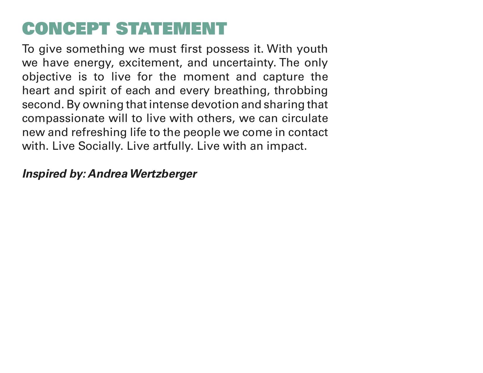Interior Design Concept Statement