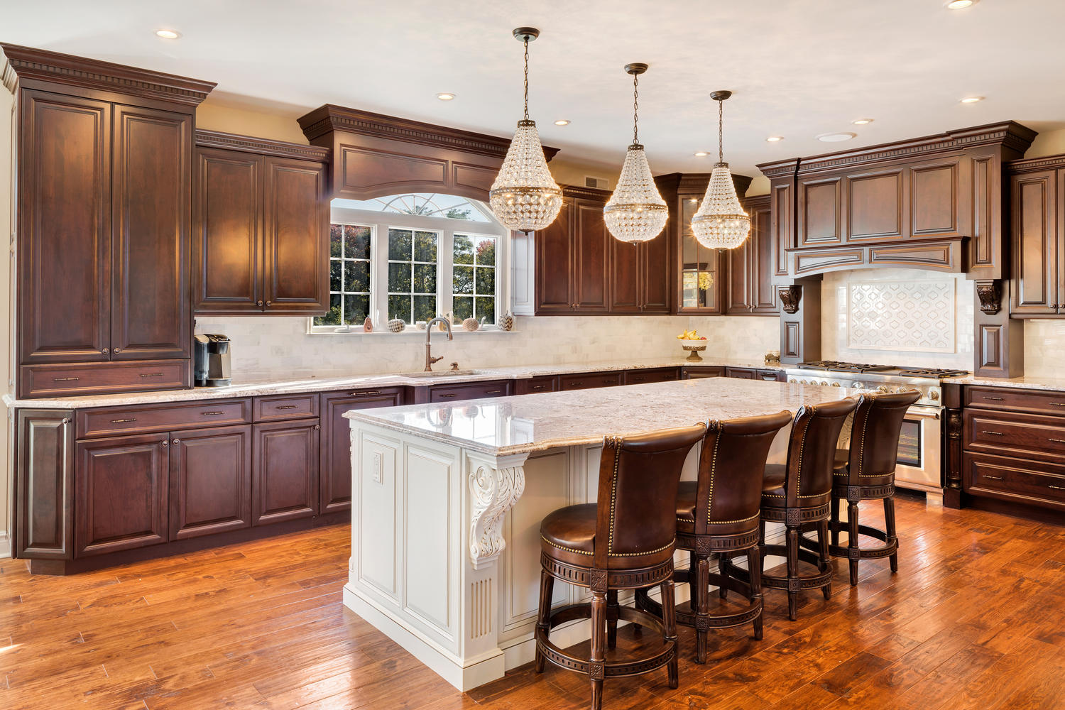 Brown And White Kitchen Cabinets Dark Brown And White Kitchen Millstone New Jersey By