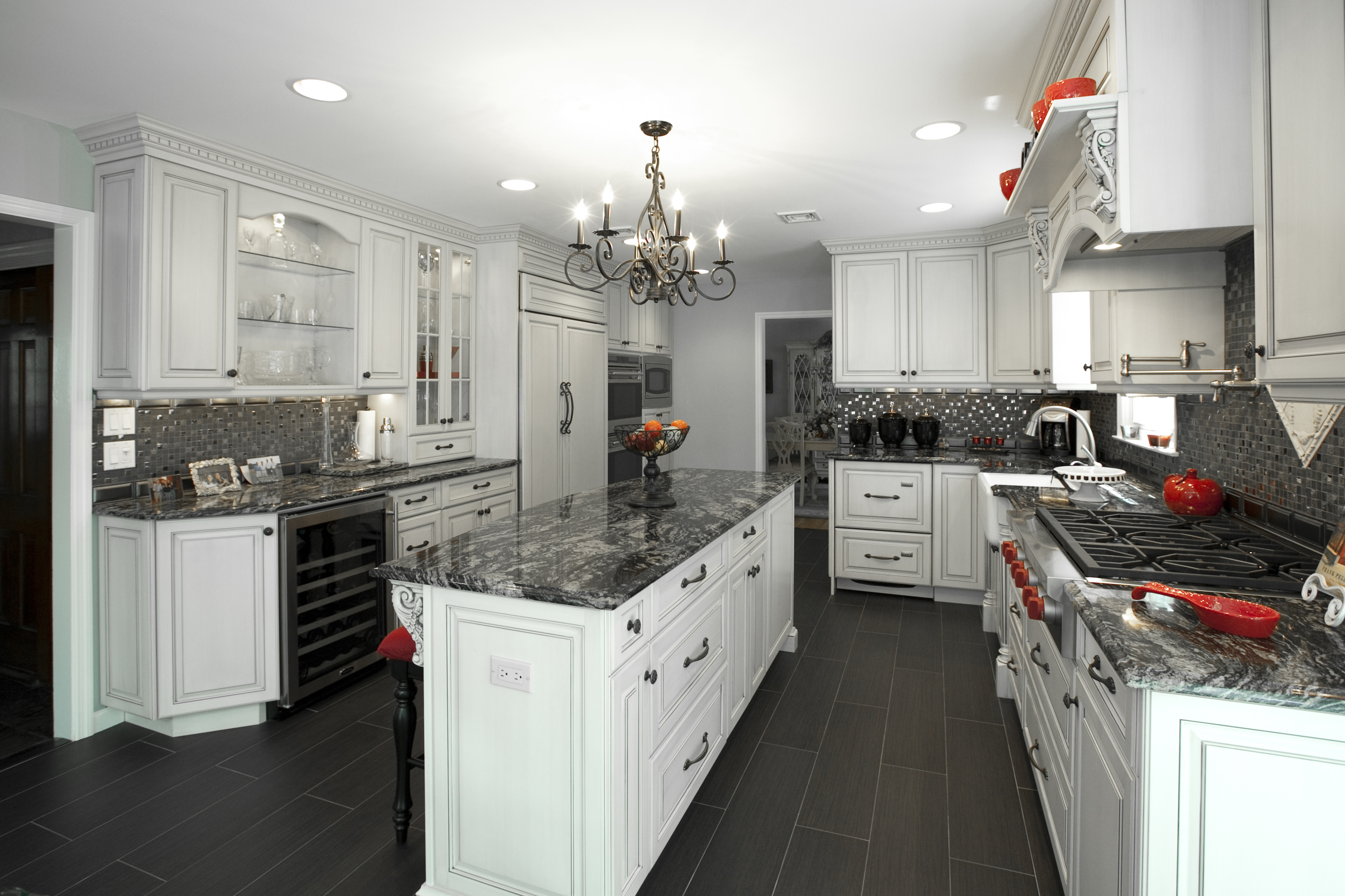 New White Kitchen Cabinets Black And White Kitchen Middletown New Jersey By Design