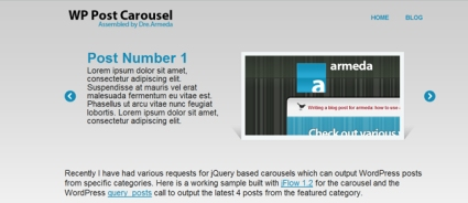 How To: Create a jQuery Carousel with WordPress  Posts