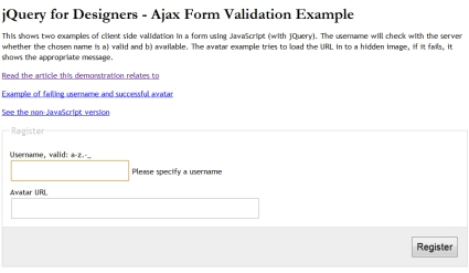 Using jQuery to Validate Forms
