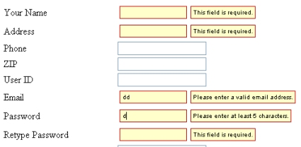 Quick and Easy Form Validation Tutorial with jQuery