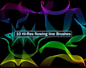 Hi-Res Flowing Line Brushes