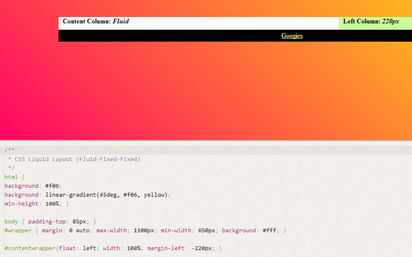 dabblet columns css howto layout design