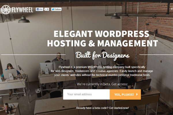 getflywheel hosting cloud services wordpress cms homepage
