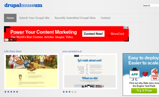 drupal museum website gallery inspiration