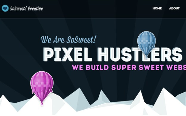 sosweet creative website dark layout wordpress