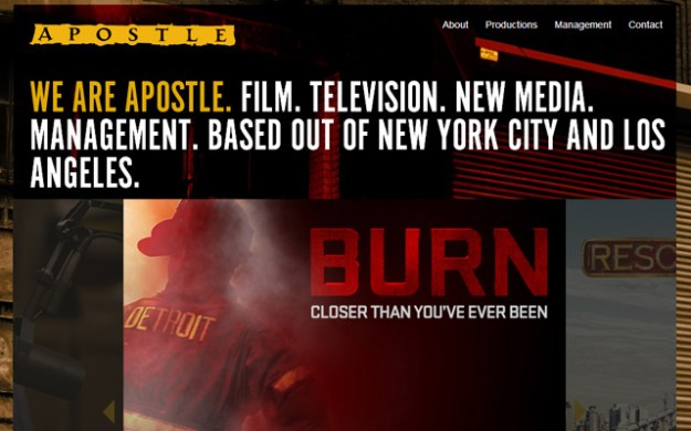 apostle nyc website layout production company