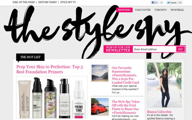the style spy white magazine layout design wordpress