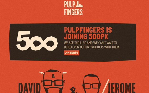 red pulpfingers portfolio layout design