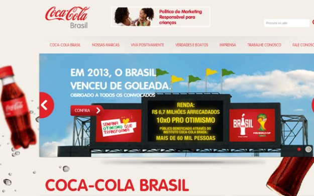 coca cola brazil website layout design wordpress