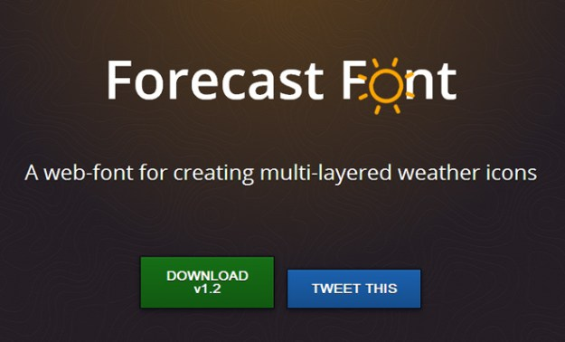 freebie open source fonts weather icons iconfont