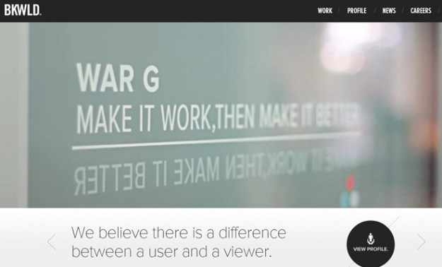 bkwld video background ui design homepage effect