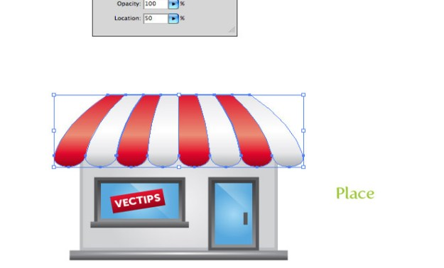 simple vector storefront store icon tutorial