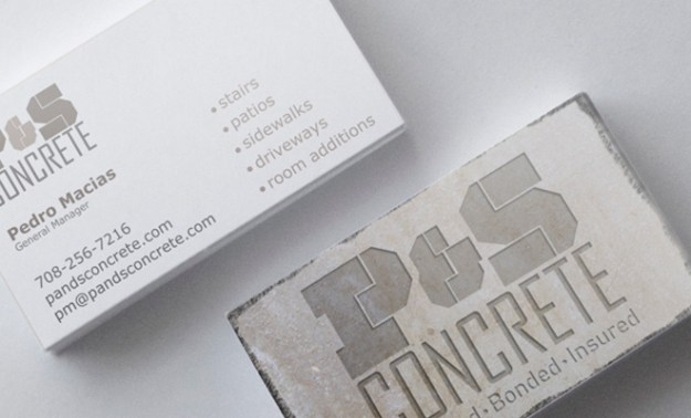 p and s concrete identity brand card