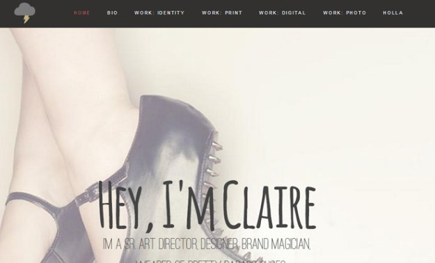 vanity claire art director personal website