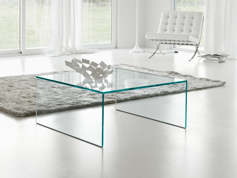 Table Ronde Ou Rectangulaire Table Basse En Verre: Confort Maximal Dans Salon - 26 Photos