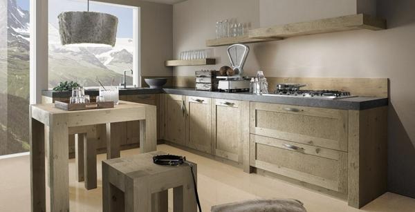 Une cuisine design et moderne toute en bois