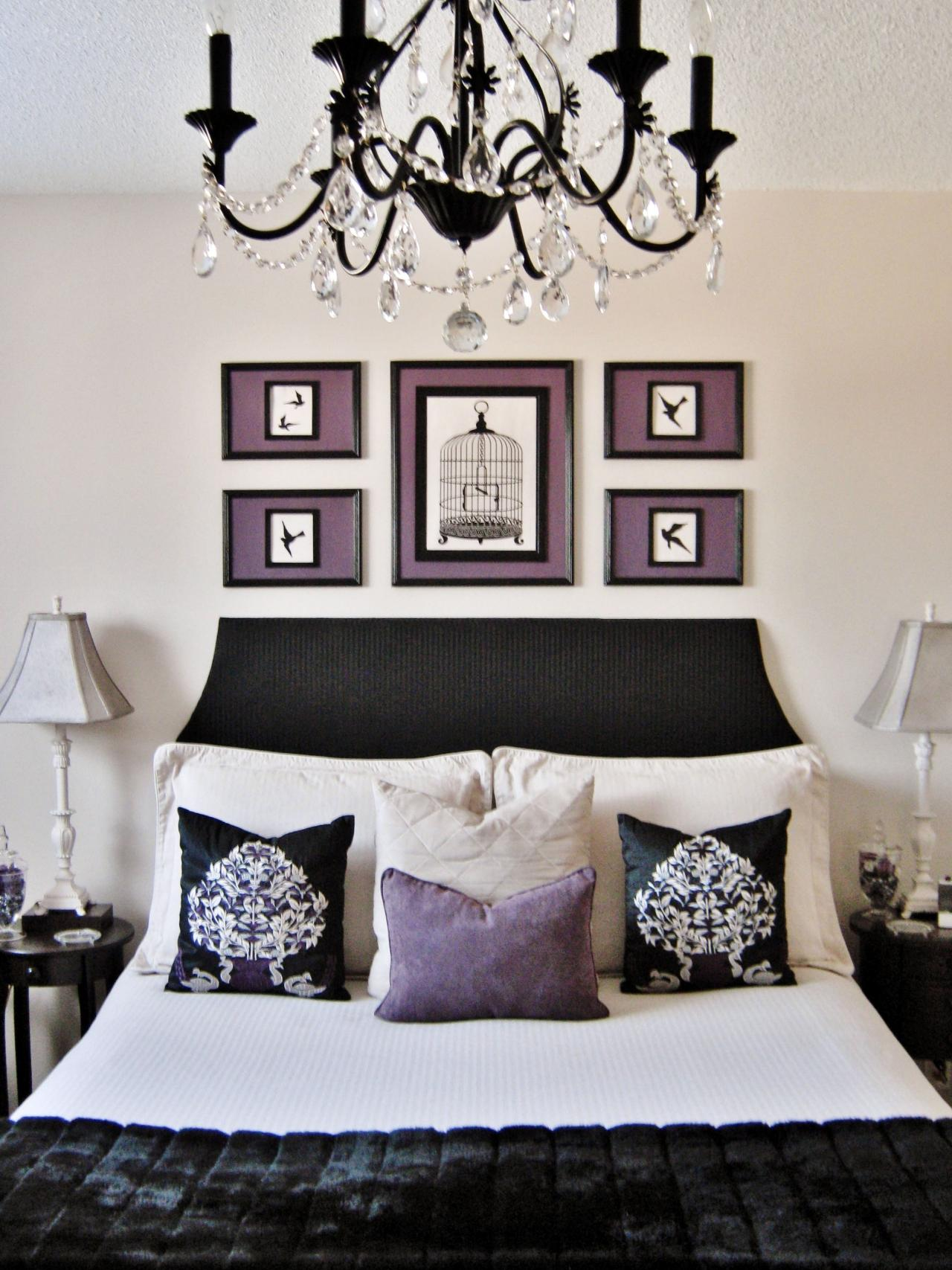 Black White And Purple Living Room 45 Exemples De Tête De Lit Originale En Styles Différents