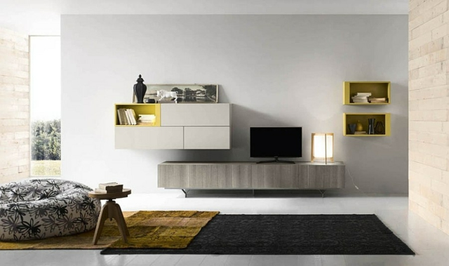 Meuble Living Tv Moderne Le Meuble Mural Salon - Quelques Exemples Par Alf Group