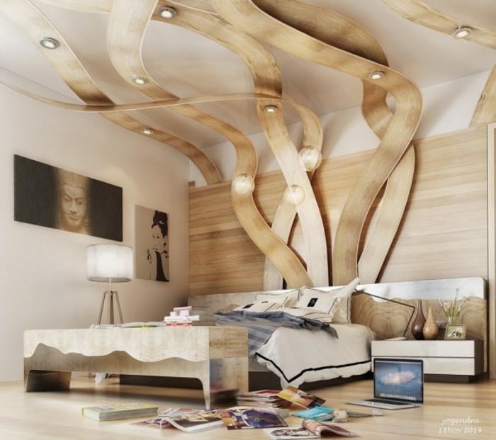 Décoration chambre à coucher moderne et confortable