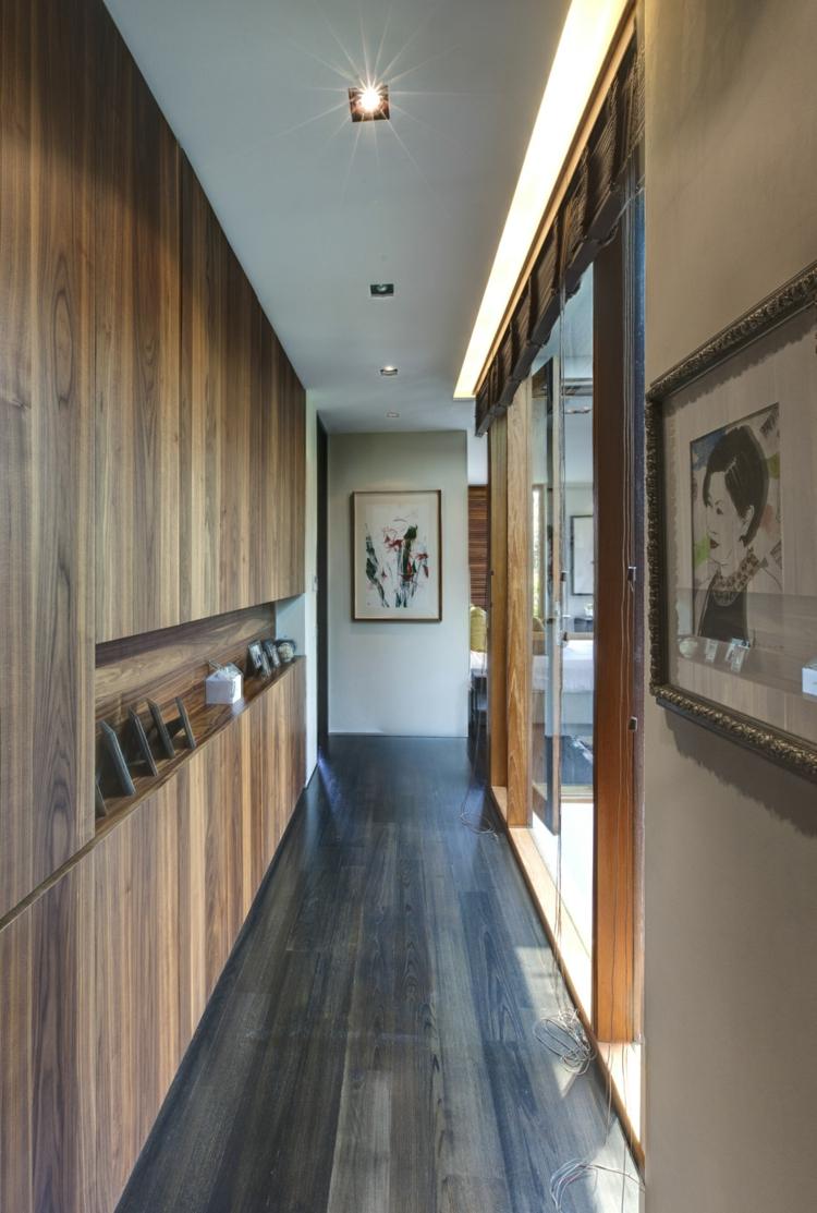 Décoration Couloir Appartement | Deco Couloir Noir Et Blanc ...