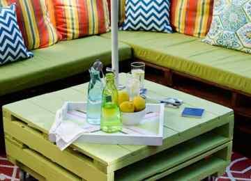 Idees Salon En Palettes | Idee De Meuble En Palette Meuble En ...