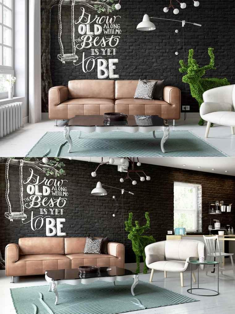 Black And White Wallpaper Living Room Salon Noir Id 233 Es De D 233 Corations En Couleurs Sombres