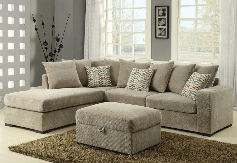 16+  8 Pc Living Room Sets  La Z Boy Devon 5 Piece Sectional - modern living room set
