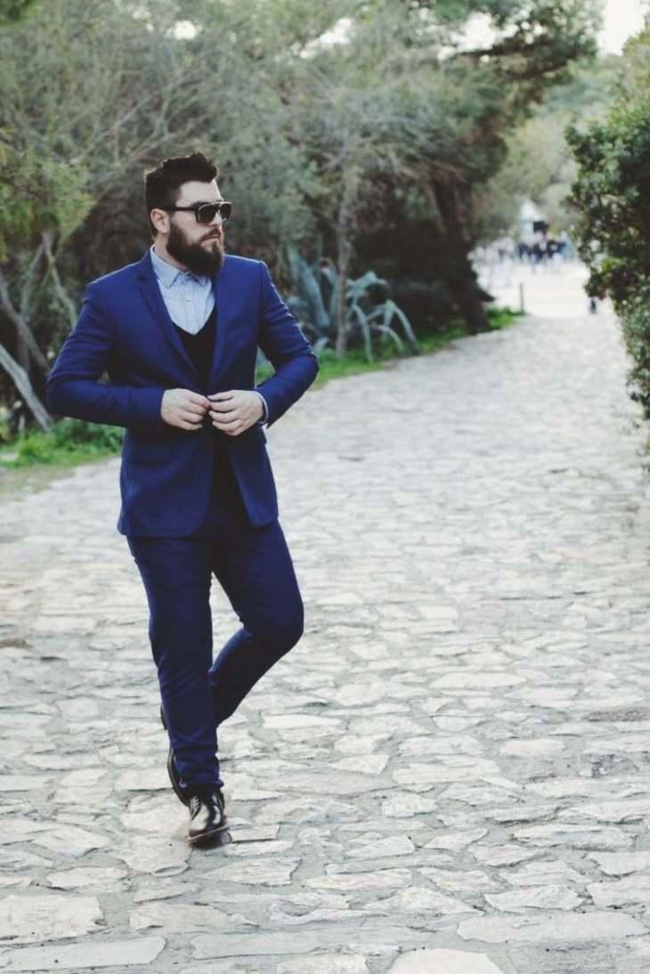 homme moderne vetements idée tendance costume lunettes idée