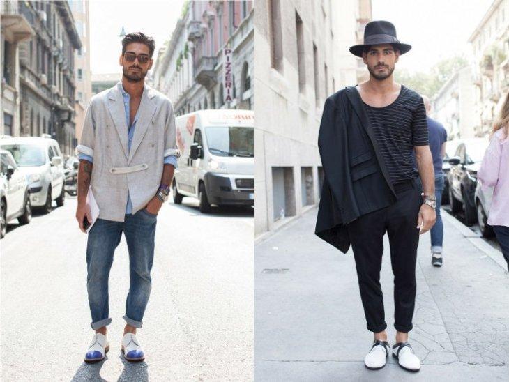 mode homme tendance pantalon noir jean veste t-shirt moderne idée