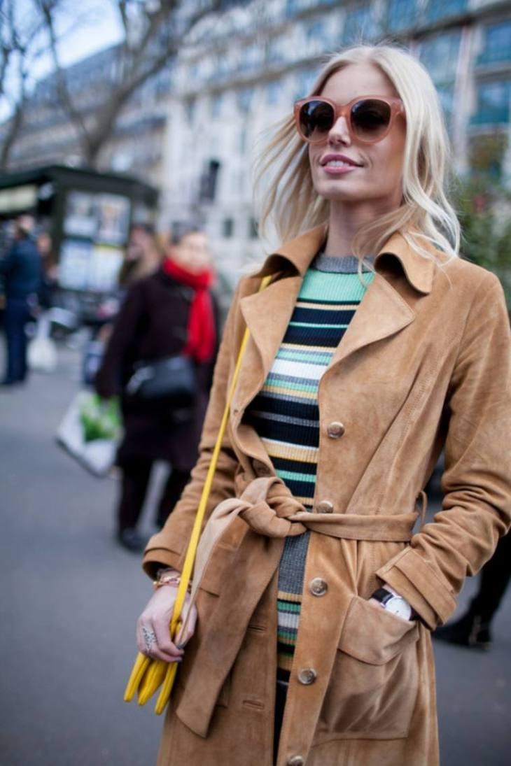 veste suède printemps femme tendance lunettes soleil