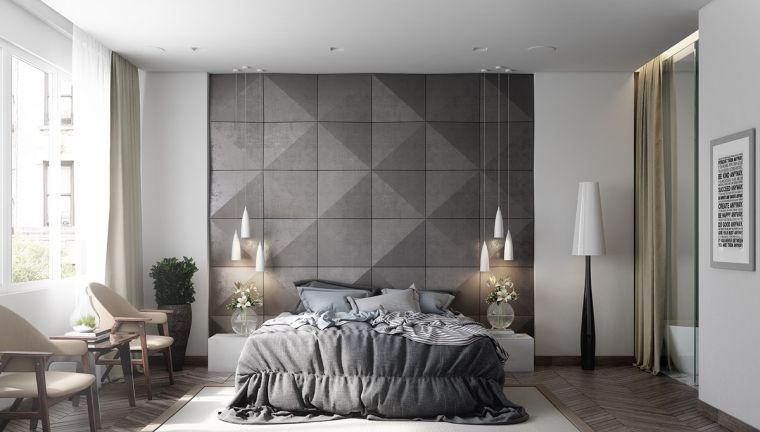 Couleur chambre design  42 espaces dominés par le gris