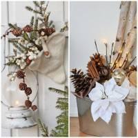Ambiance Nol avec dcoration naturelle pour la maison