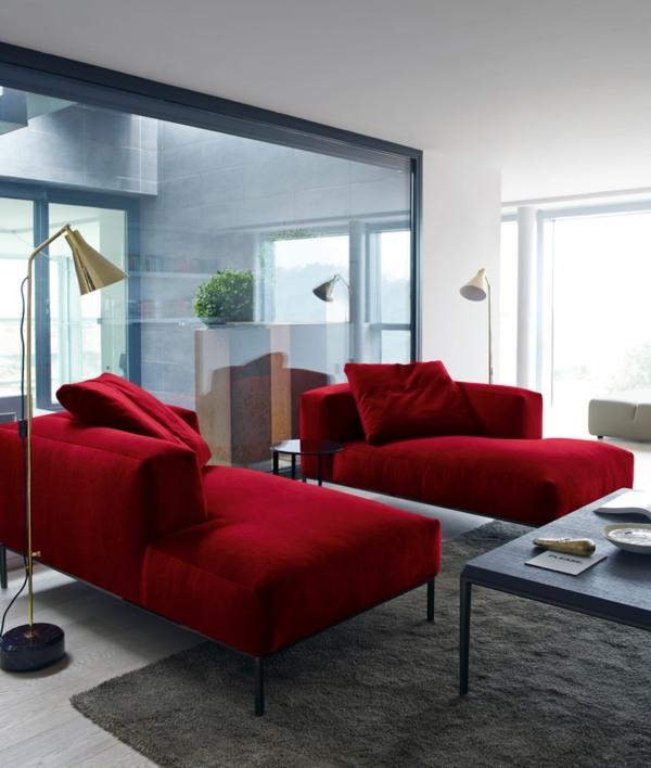 Salon Marron Et Rouge