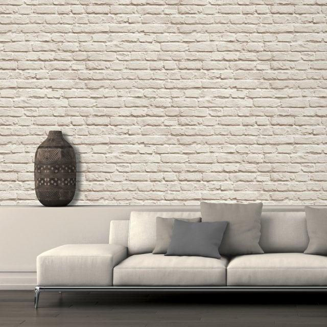 3d Brick Wallpaper For Living Room Papier Peint Brique Pour Un Salon De Style Industriel