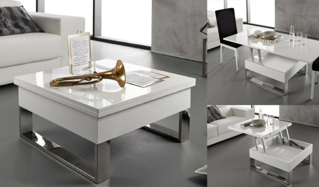 Mesa Salon Elevable Extensible La Table Basse Design En 33 Exemples Uniques