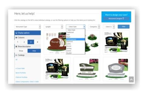 Online Catalog  Monument Designer / Online Design Catalog / About