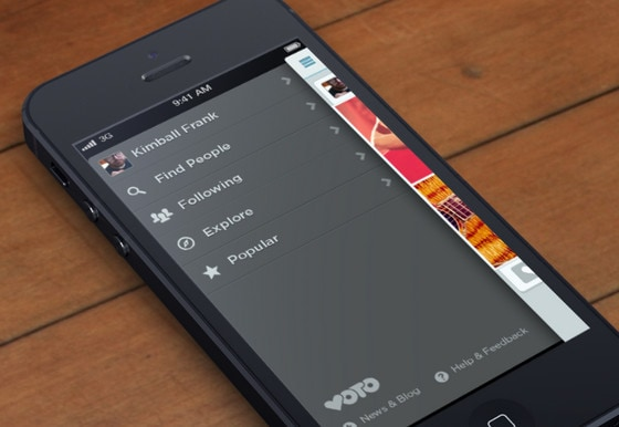 Vertical Navigation Implementation of Side Menu in Mobile Apps - phone list templates