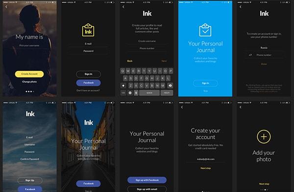 app ui designs - Selol-ink
