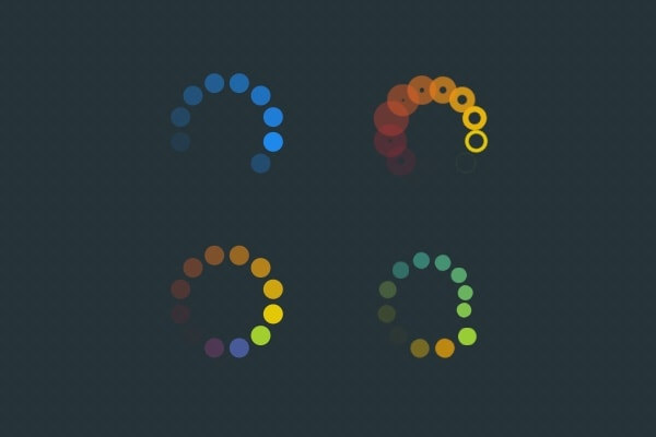 18 CSS3 and jQuery Loading Animations Solutions - Designmodo - animation circles