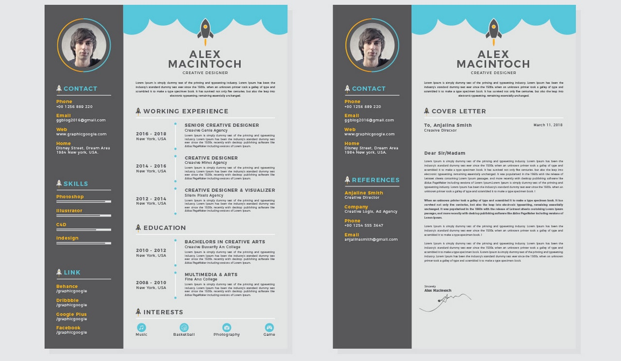 free beautiful word cv template