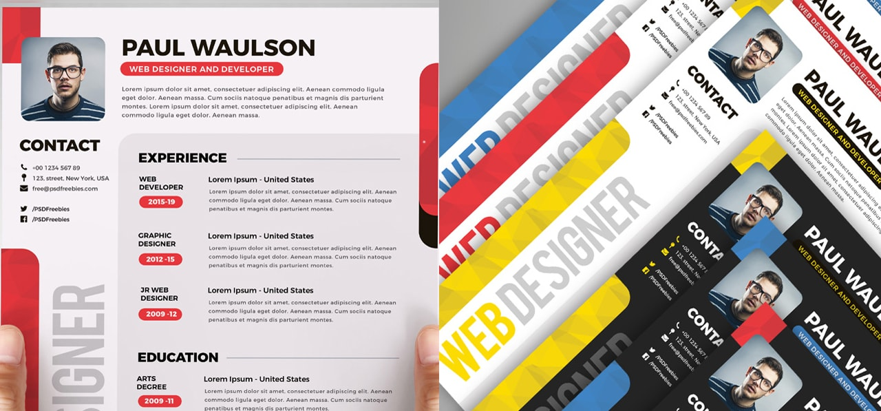 Free and Beautifully-Designed Resume Templates - Designmodo