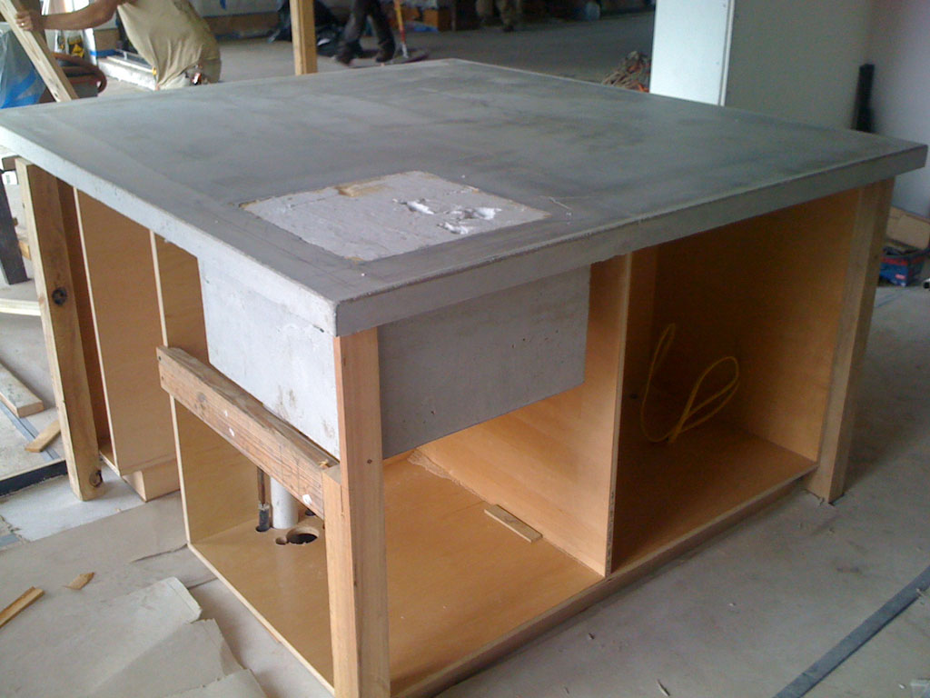 What Kind Of Concrete To Use For Countertops Saga Of The Acid Stained Concrete Counters