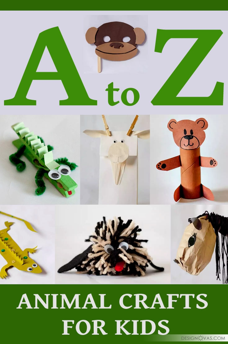 Animal Design 26 Animal Crafts You Can Make With Your Kids Cool Home And